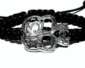 Handmade bracelet with a durable cord. Skull 4