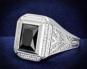 Black Diamond 925 Sterling Silver Ring