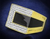 Gold+Rhodium 925 Silver Ring