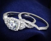 AAA CZ Clear Plated 925 Sterling Silver Ring