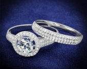 Silver Ring with AAA Grade CZ in Clear