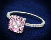 925 Sterling Silver Ring with Cubic in Rose