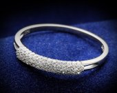 Ring in silver and rhodium, clear plated, best  quality