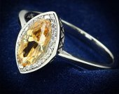 AAA CZ Champagne 925 Sterling Silver Ring