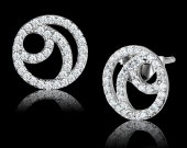 Clear Plated 925 Sterling Silver Earrings
