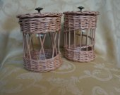 Wicker jars for the kitchen