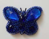 "Handmade brooch made of beads ""Blue butterfly"""