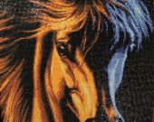 the picture (horse 🐎) is embroidered with diamond embroidery by hand by the master in a single copy