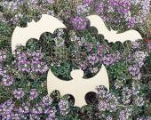 Assorted 3-PAK Unfinished Wood Bat Cutouts / Halloween Decorations