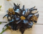 Brooch, Roses, Fashion jewelry, Fashion jewelry, Leather roses, Holiday gift.