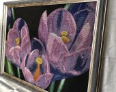 "Handmade beads embroidery ""Spring crocuses"""