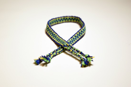 Blue and Lime Green Friendship Bracelet