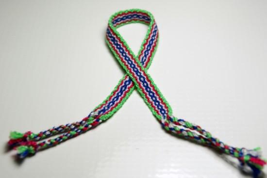 Lime Green and Blue Friendship Bracelet