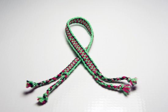Green and Red Friendship Bracelet
