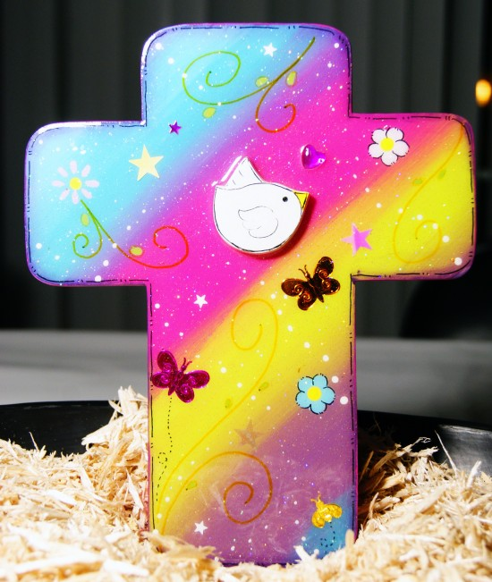Handmade Multi-Color Wooden Cross