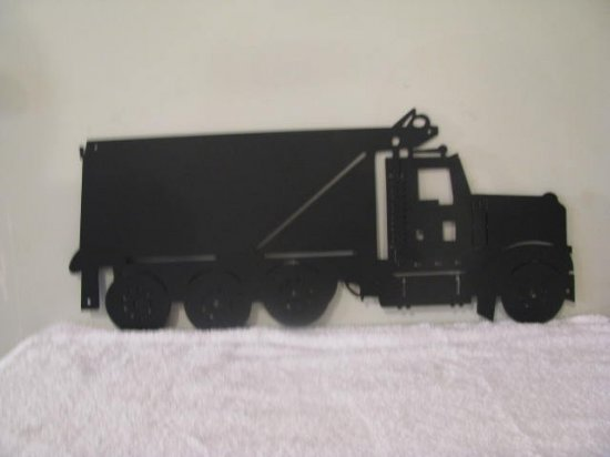KW Dump Truck Metal Wall Art Silhouette