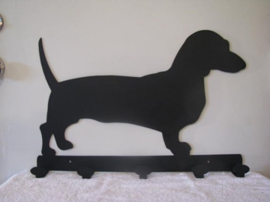 Dachshunds Coat Rack Metal Wall Art Silhouette