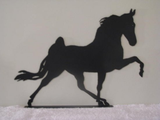Walking Horse L Mail Box Topper Metal Art Silhouette