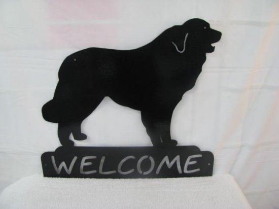 Great Pyrenees Welcome Metal Wall Art Silhouette