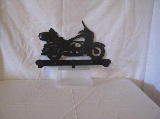 Motorcycle 003 Coat Rack Metal  Silhouette Wall Art