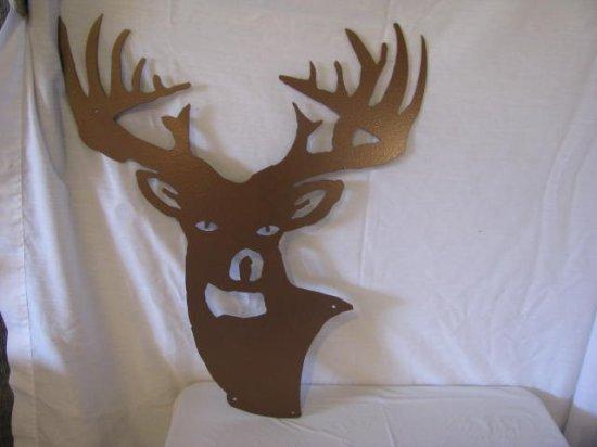 Deer Head Metal Wall Art Silhouette