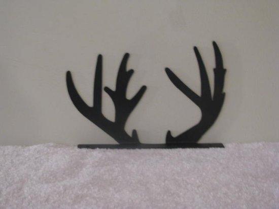 Deer Horn Mailbox Topper Metal Wildlife Wall Art Silhouette