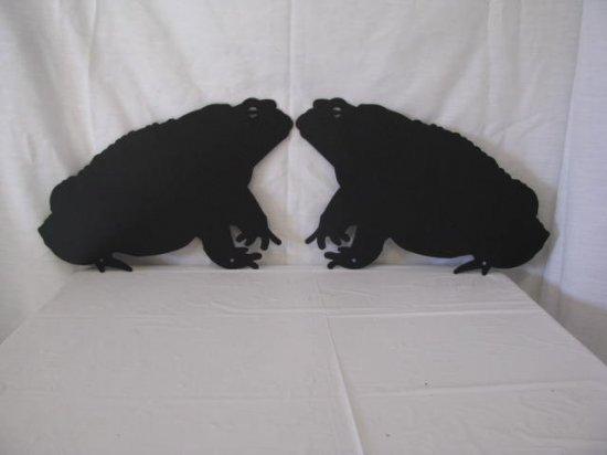 Toad Set (2) Metal Art Silhouette Wildlife