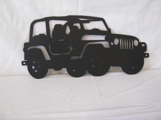 4 Wheeler Jeep Off Road Metal Wall Art Silhouette