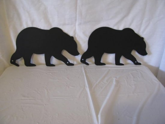 Bear 001 Metal Wall Art Silhouette Set of (2) Handmade