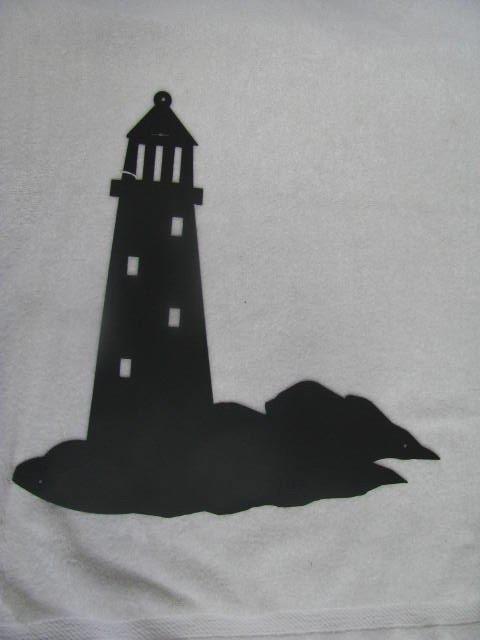 Lighthouse 003 Silhouette Metal Wall Art