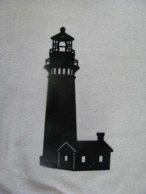 Lighthouse 002 Silhouette Metal Wall Art