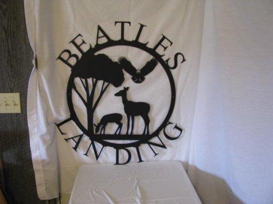 Deer Eagle Wildlife Metal Wall Art Silhouette