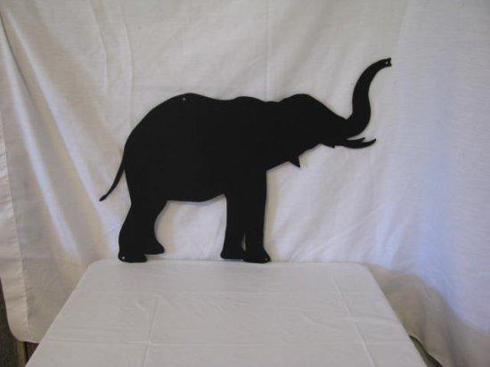 Elephant 017 Metal Animal Wall Art Silhouette