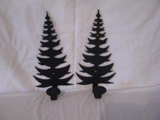 Tree 001 Towel/Coat Rack Metal Wall Art Silhouette Set of (2)