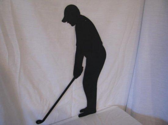 Golfer Metal Wall Art Silhouette