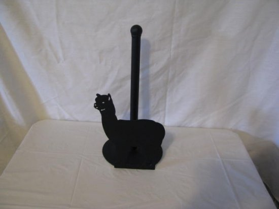 Alpaca Paper Towel Holder Metal Wall Art Farm Silhouette