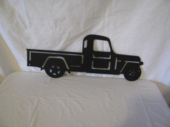 51 Jeep Truck Metal Wall Art Silhouette