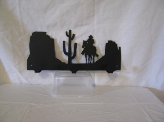 Scenic Arizona 003 Hook Coat Rack Metal Wall Art Western Silhouette