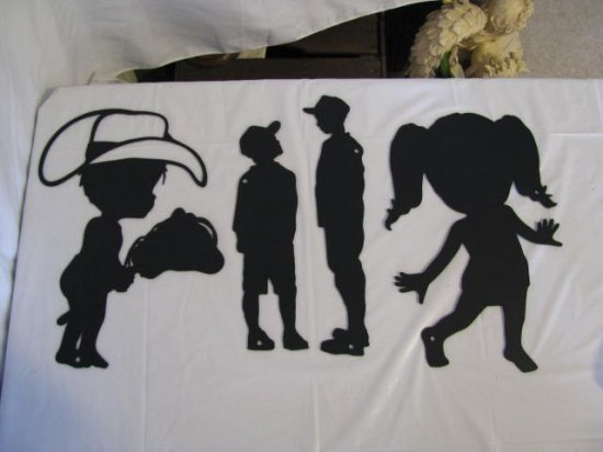 Kids Metal Wall Art Silhouette Set of 4