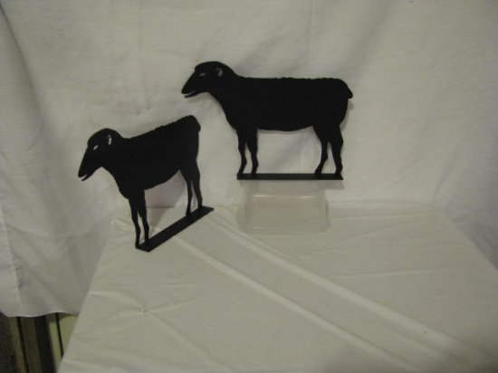 Sheep Mailbox Topper Metal Farm Wall Art Silhouette Set of 2