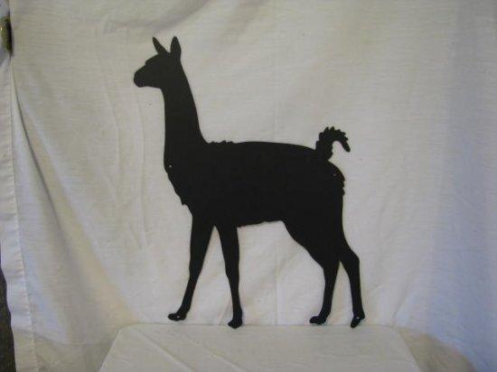 Llama 001 Metal Farm Wall Art Silhouette