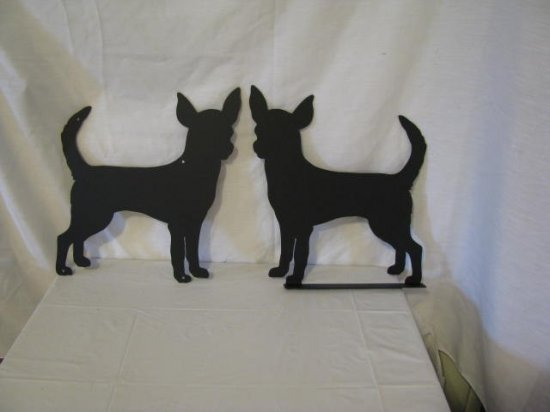 Chihuahua 010 Metal Wall Art Dog Silhouette and Mailbox Topper