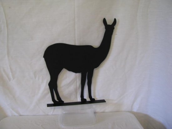 Llama 002 Mailbox Topper Metal Farm Wall Art Silhouette