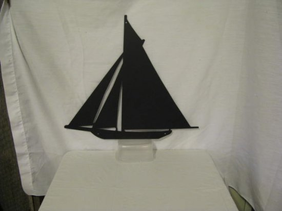 Sailboat 002 Metal Wall Art Silhouette