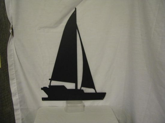 Sailboat 001 Metal Boat Wall Art Silhouette