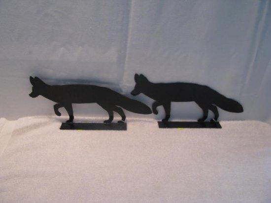 Fox Mailbox Topper Metal Wildlife Wall Art Silhouette Art Set of 2