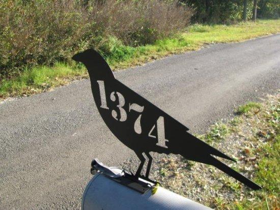 Raven Crow Mailbox Topper Metal Wall Yard Art Wildlife Silhouette