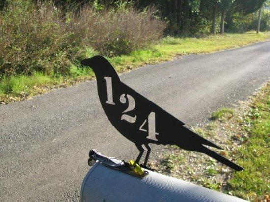 Juvenile Raven Crow Mailbox Topper Metal Wildlife Yard Art Silhouette