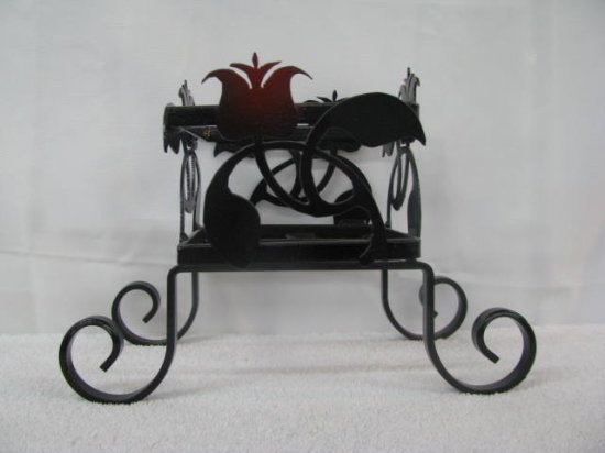 Flower Pot Holder Metal Silhouette Art