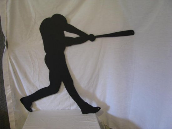 Baseball Player 002 Metal Sports Wall Yard Art Silhouette